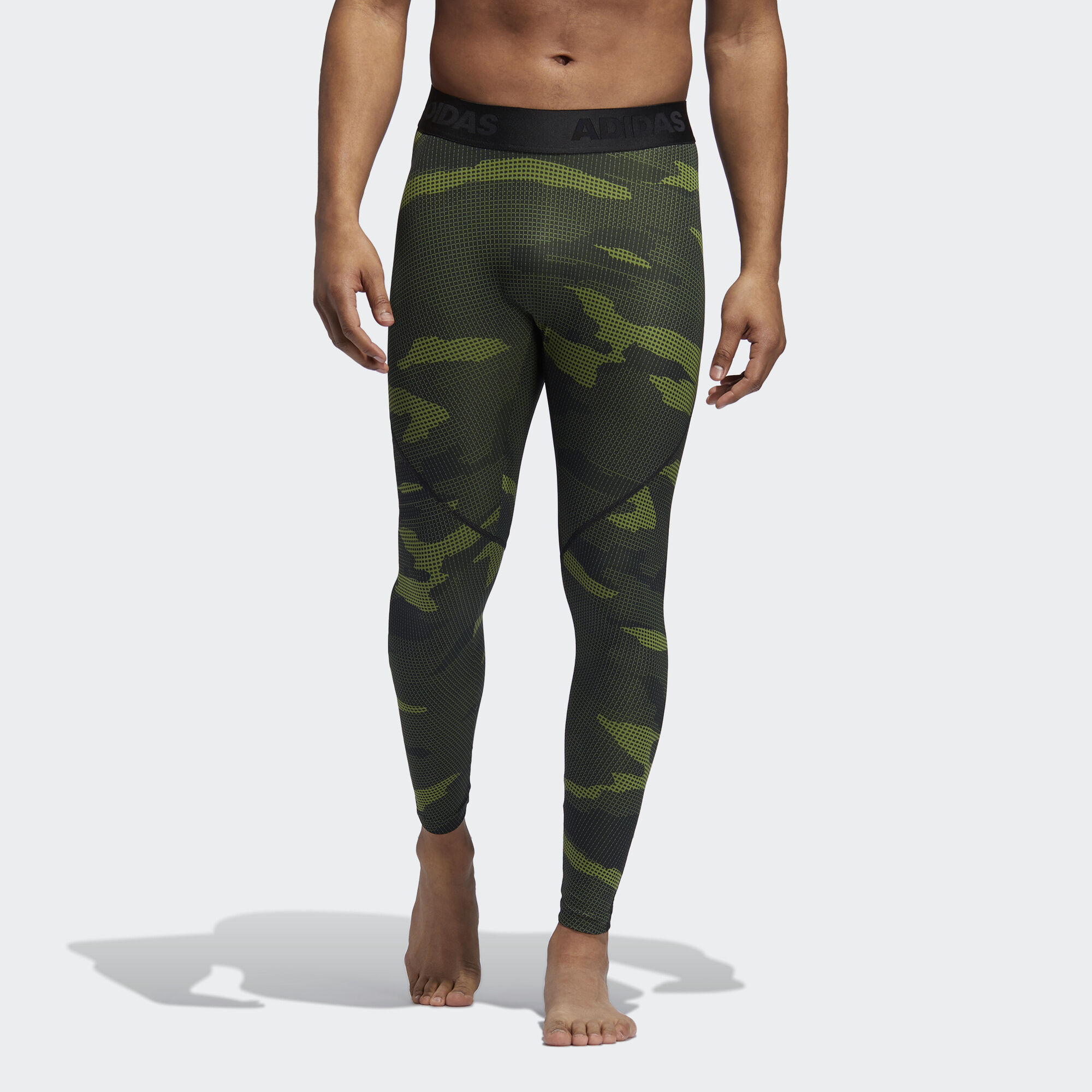 Леггинсы для фитнеса Alphaskin Camouflage adidas Performance